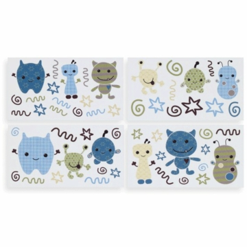 CoCaLo Peek A Boo Monsters Removable Wall Appliques