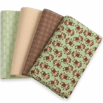 Carter's Receiving Blankets Set of 4 - Monkey