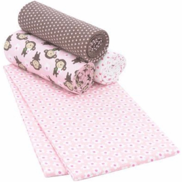 Carter's 4 Pack Wrap Me Up Receiving Blankets - Pink Money