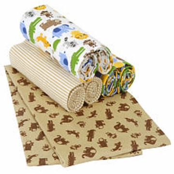 Carter's 4 Piece Safari Receiving Blankets