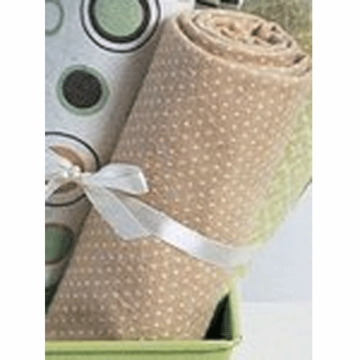 Carter's Wrap Me Up Receiving Blanket in Brown/Sage circles