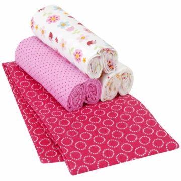 Carter's Lady Bug 4 Pack Receiving Blankets