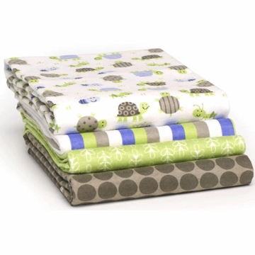 Carter's 4-Pack Receiving Blankets - Turtle