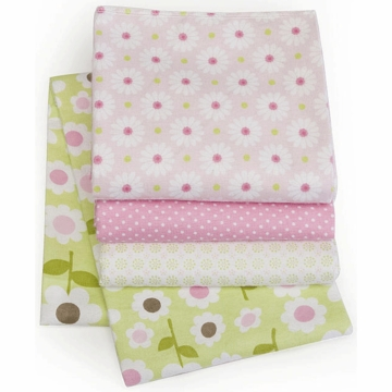 Carter's Wrap-Me-Up 4-Pack Receiving Blankets - Green Floral