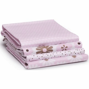 Carter's 4 Pack Wrap Me Up Receiving Blanket Sweet Daisy