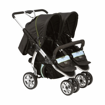 Valco Baby Twin Latitude EX Stroller in Silk Black