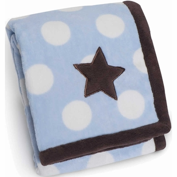 Carter's Snuggle-Me Polka Dot Boa Blanket - Blue/Star
