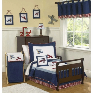 Sweet JoJo Designs Aviator 5 Piece Toddler Bedding Set