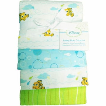 Kidsline Finding Nemo Receiving Blankets - 4 Pack