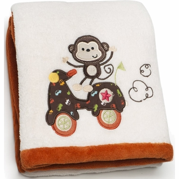 Kids Line Embroidered Boa Blanket - Road Rally