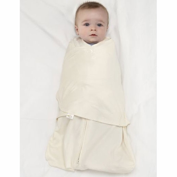 Halo 100% Cotton SleepSack Swaddle - Cream - Small