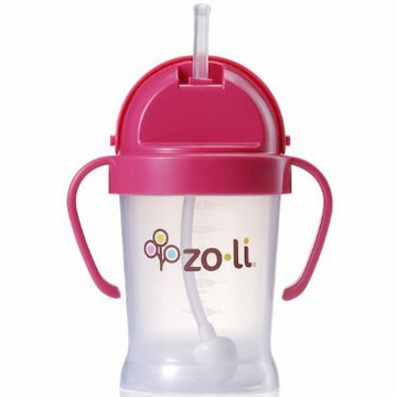 ZoLi BOT 6 oz Straw Sippy Cup - Pink