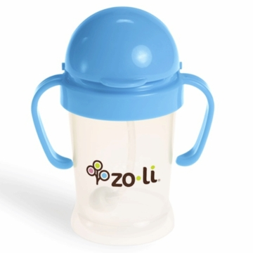 ZoLi BOT 6 oz Straw Sippy Cup - Blue