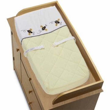 Sweet JoJo Designs Bumble Bee Changing Pad Cover