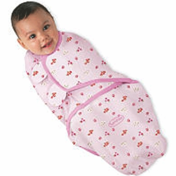 Summer Infant SwaddleMe Adjustable Infant Cotton Wrap Pink Ladybug in Small