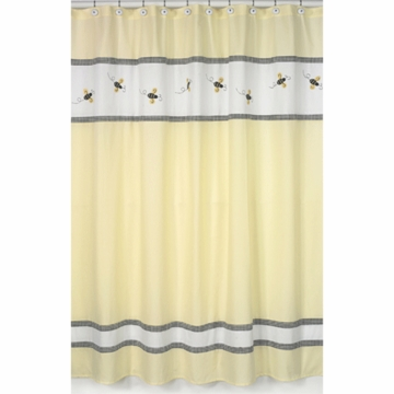 Sweet JoJo Designs Bumble Bee Shower Curtain