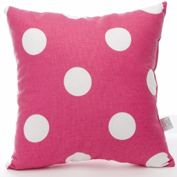 Sweet Potato Dottie Large Pink Dot Pillow
