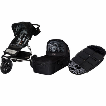 Mountain Buggy Urban Jungle Single Stroller + Carry Cot + Footmuff in Limited Edition Eclipse