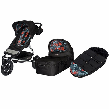 Mountain Buggy Urban Jungle Single Stroller + Carry Cot + Footmuff in Limited Edition Dusk