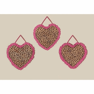 Sweet JoJo Designs Cheetah Girl Wall Hangings