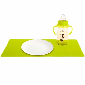 ZoLi Matties Silicone Travel Place Mats (2 mats per pack) - Green