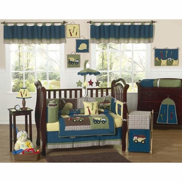 Sweet JoJo Designs Construction Zone 9 Piece Crib Bedding Set
