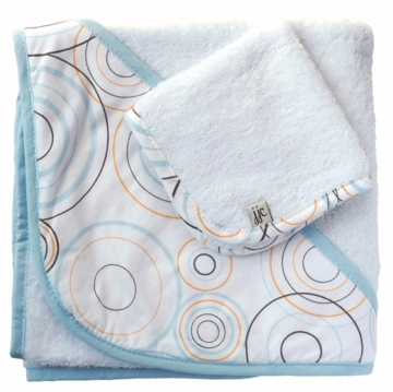 JJ Cole Hooded Towel Blue Bullseye