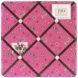 Sweet JoJo Designs Cowgirl Memo Board in Pink Bandana Print