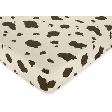 Sweet JoJo Designs Cowgirl Crib Sheet in Cow Print