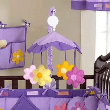 Sweet JoJo Designs Danielle's Daisies Musical Mobile
