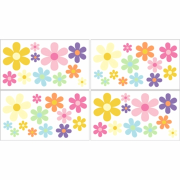 Sweet JoJo Designs Danielle'e Daisies Wall Decals