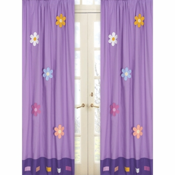 Sweet JoJo Designs Danielle's Daisies Window Panels- Set of 2
