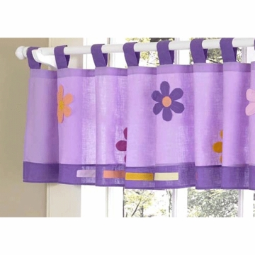 Sweet JoJo Designs Danielle's Daisies Window Valance