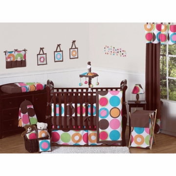 Sweet JoJo Designs Deco Dot 9 Piece Crib Bedding Set