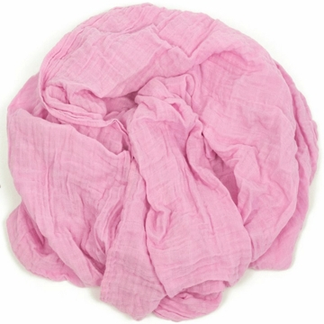 Weegoamigo Solid Muslin Swaddle - Bubble Gum