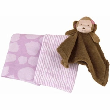 CoCaLo Jacana Receiving Blanket and Plush Security Blanket Set