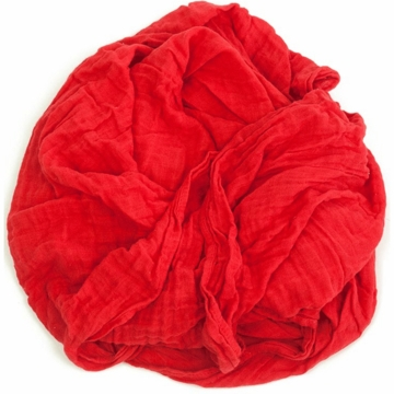 Weegoamigo Solid Muslin Swaddle - Red