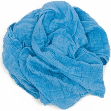 Weegoamigo Solid Muslin Swaddle - Swedish Blue