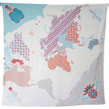 Weegoamigo Printed Muslin Swaddle - Baby World Map