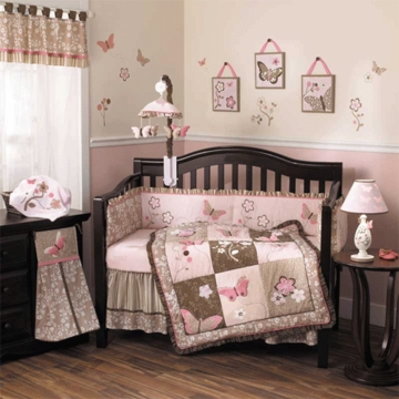 CoCalo Mia Rose 6 Piece Crib Bedding Set