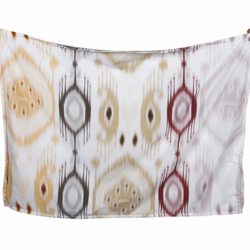 OiOi Printed Muslin Swaddle - Ikat Naural