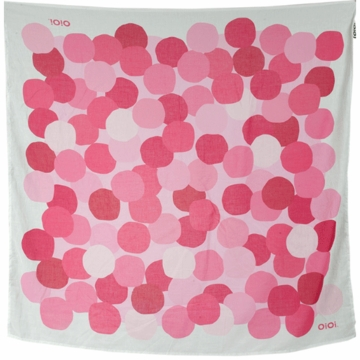 OiOi Printed Muslin Swaddle - Pink Dot
