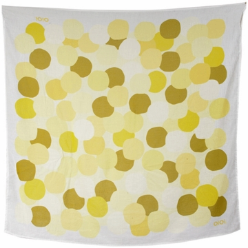 OiOi Printed Muslin Swaddle - Yellow Dot