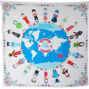 Weegoamigo Printed Muslin Swaddle - World Peace