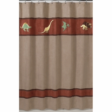 Sweet JoJo Designs Dinosaur Land Shower Curtain
