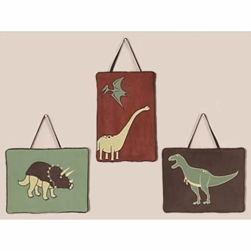 Sweet JoJo Designs Dinosaur Land Wall Hangings