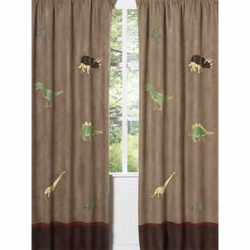 Sweet JoJo Designs Dinosaur Land Window Panels- Set of 2