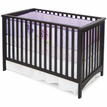 Child Craft London Euro Crib in Jamocha
