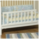 Child Craft Toddler Guard Rail for Euro Crib in Matte White