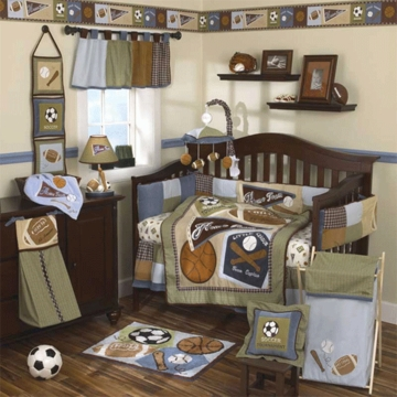 CoCaLo Sports Fan 8 Piece Crib Bedding Set